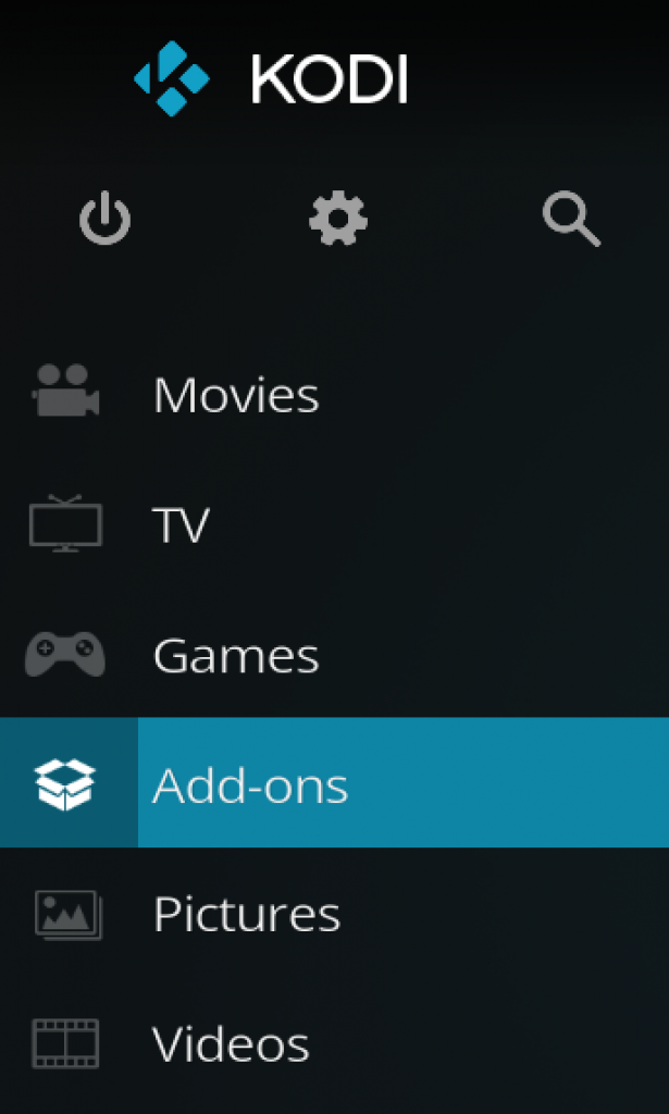 05 - kodi home screen