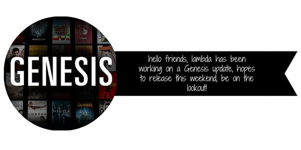 Genesis 4.8.0 Released! Details Inside!