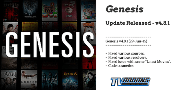 Genesis 4.8.1 Released! Major Genesis Bug Fix