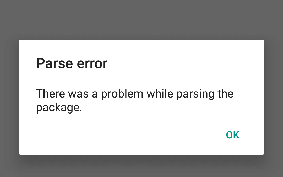 "Android Parse Error Fix: ""There Was a Problem Parsing the Package"""