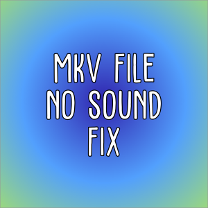 MKV NO SOUND