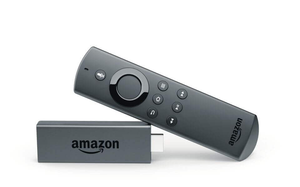 picture of amazon fire stick kodi box and remote