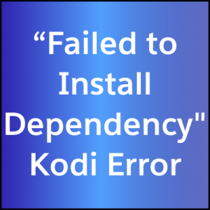 failed to install dependency