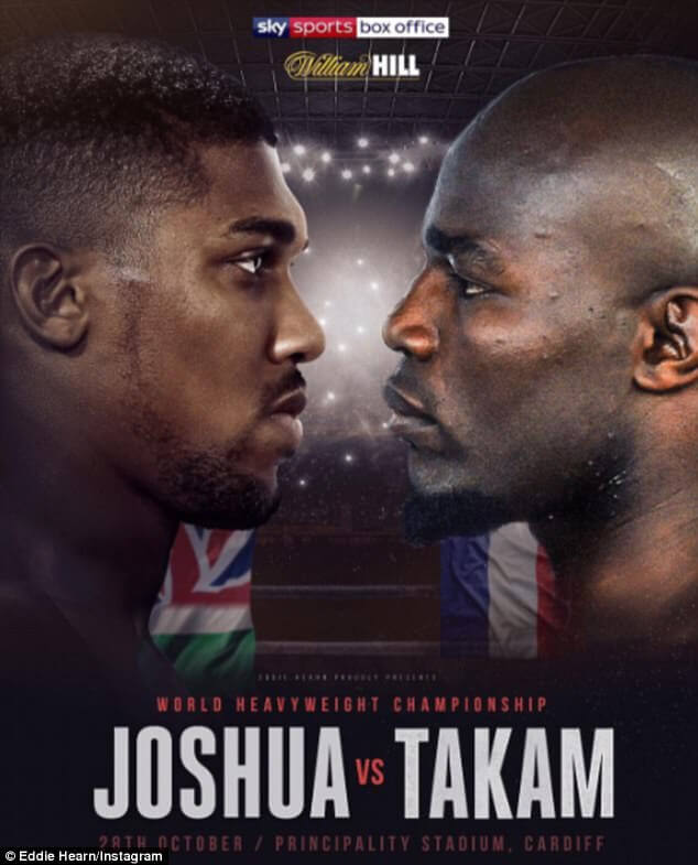 Joshua Takam Kodi Information guide: Anthony Joshua vs Carlos Takam