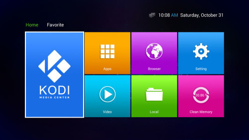 older android tv box home screen tile and apps