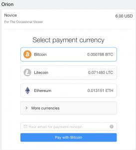 orion kodi bitcoin