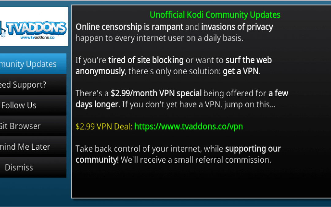 How to Remove TVAddons Notifications, Community Updates From Indigo Addon