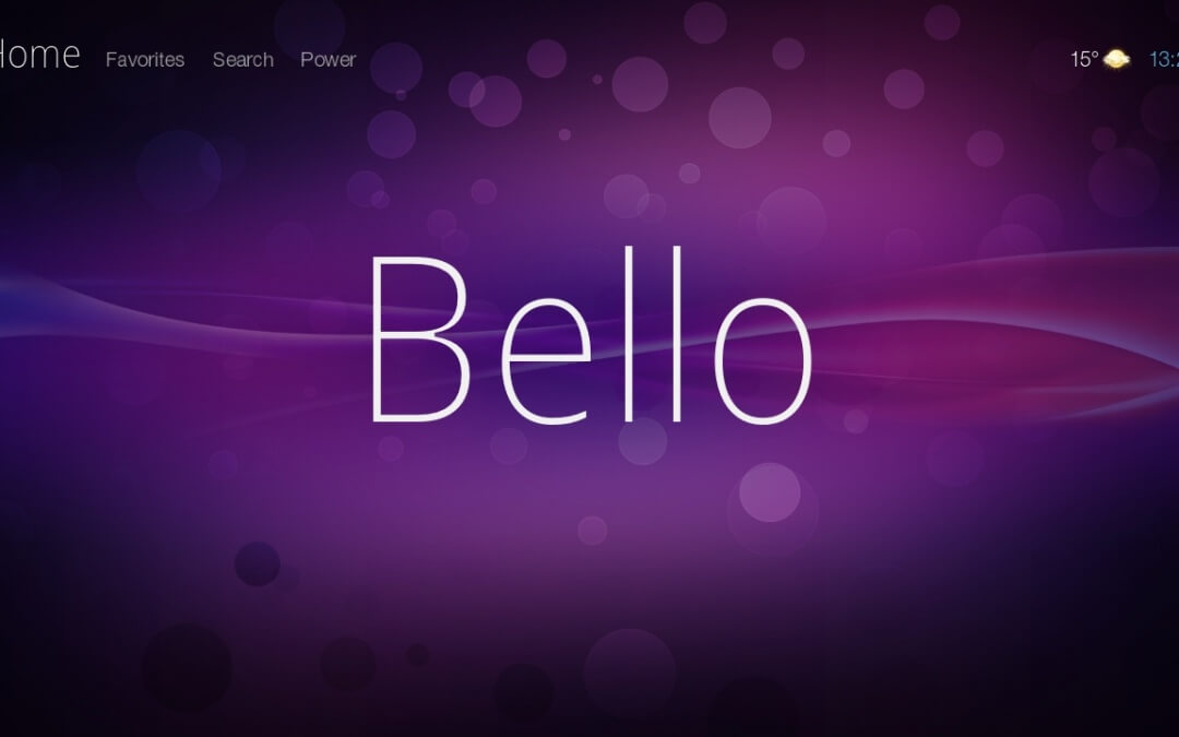 Bello Skin For Kodi: Functional and Clean